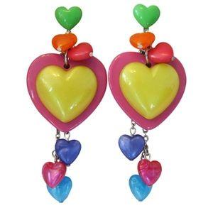 Tarin Tarantino kaleidoscope heart dangle earrings